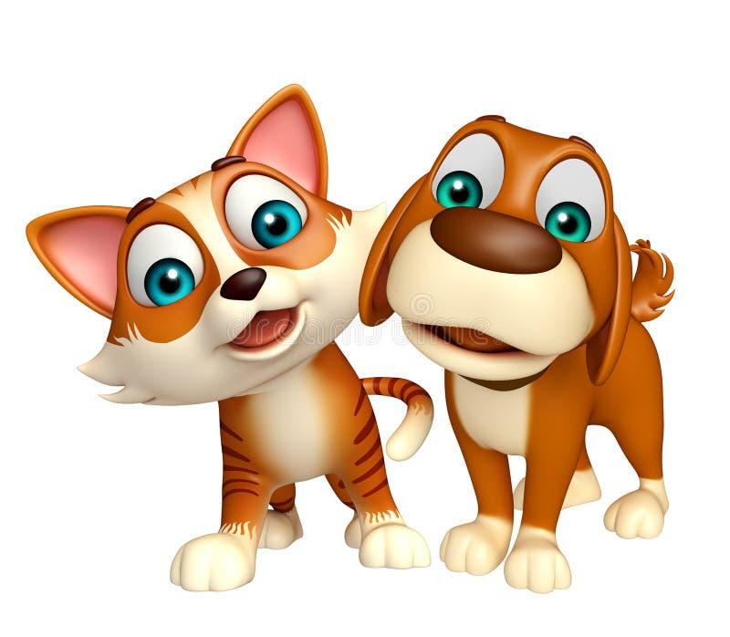 Συλλογή σκυλιών και γατών ελεύθερη απεικόνιση δικαιώματος