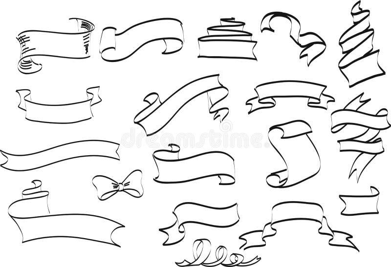 Συλλογή συρμένου του χέρι εκλεκτής ποιότητας πλαισίου για τη διακόσμηση κειμένων στο VE ελεύθερη απεικόνιση δικαιώματος