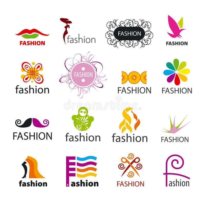 Συλλογή της διανυσματικής μόδας λογότυπων απεικόνιση αποθεμάτων