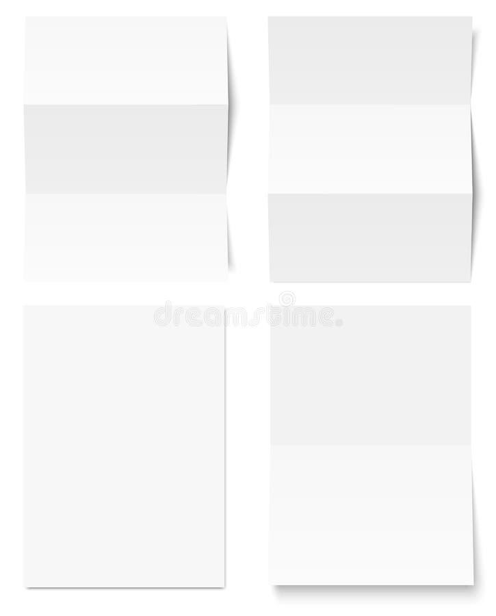 Συλλογή του άσπρου εγγράφου γραψίματος απεικόνιση αποθεμάτων
