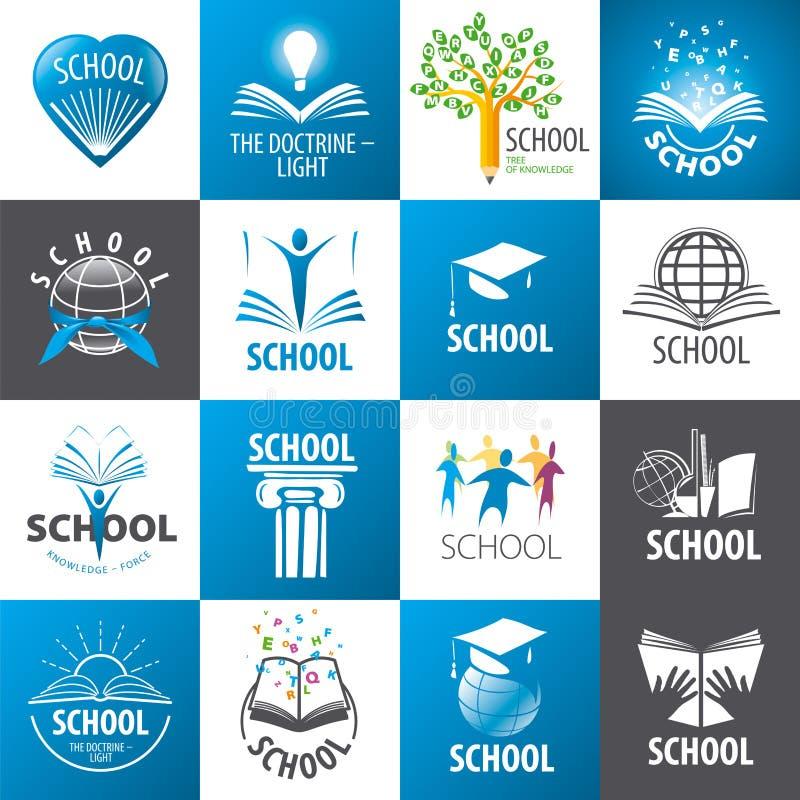 Συλλογή του διανυσματικού σχολείου λογότυπων ελεύθερη απεικόνιση δικαιώματος