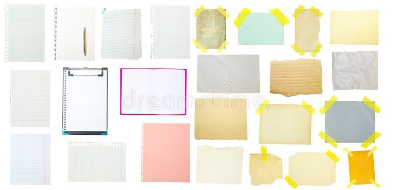 Συλλογή του παλαιού εγγράφου σημειώσεων στοκ εικόνα με δικαίωμα ελεύθερης χρήσης