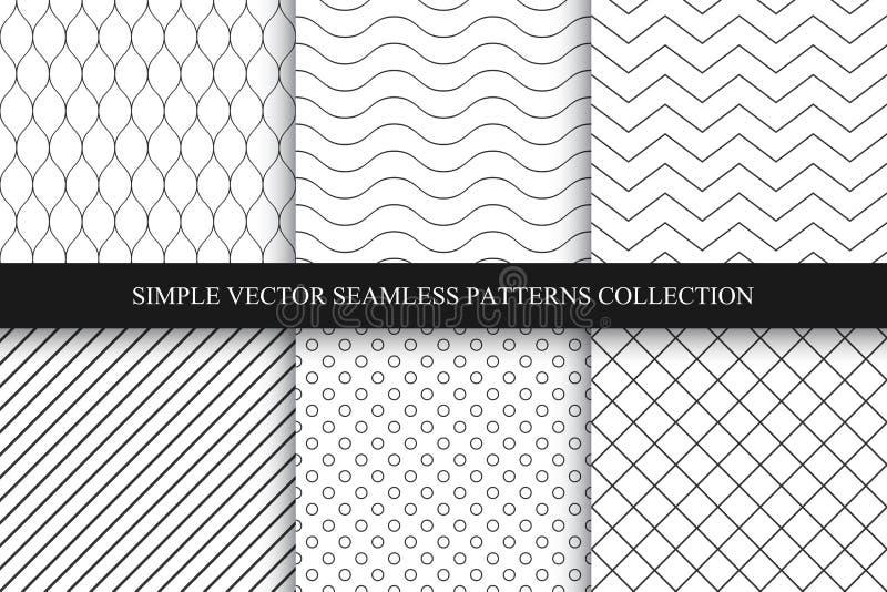 Συλλογή των άνευ ραφής γεωμετρικών minimalistic σχεδίων διανυσματική απεικόνιση