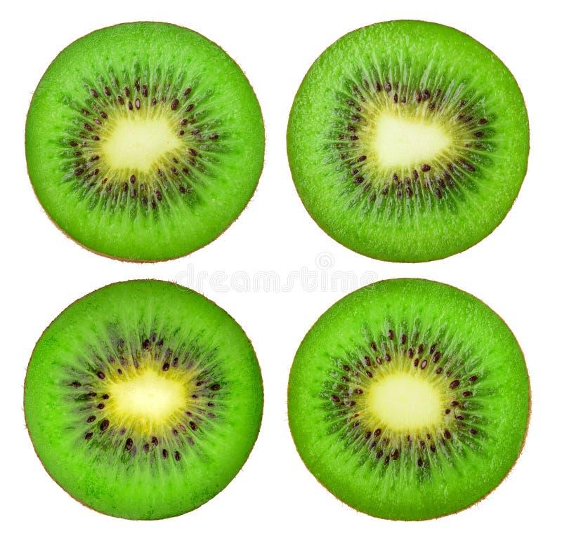 Συλλογή των απομονωμένων φετών φρούτων ακτινίδιων στοκ φωτογραφίες με δικαίωμα ελεύθερης χρήσης