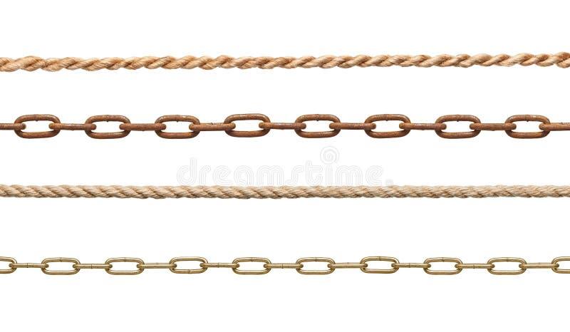 Αλυσίδα και σχοινί στοκ εικόνα με δικαίωμα ελεύθερης χρήσης