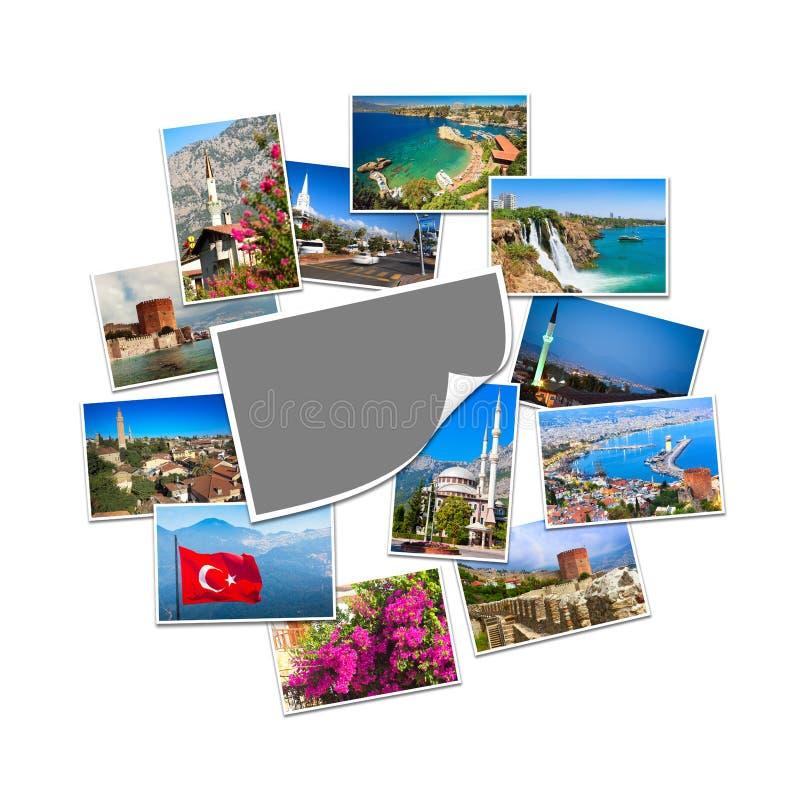 Συλλογή των εικόνων ταξιδιού από την Τουρκία στοκ εικόνα με δικαίωμα ελεύθερης χρήσης