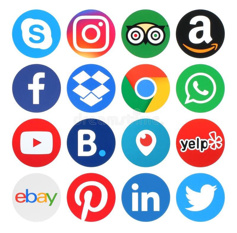 Συλλογή των δημοφιλών λογότυπων κύκλων απεικόνιση αποθεμάτων