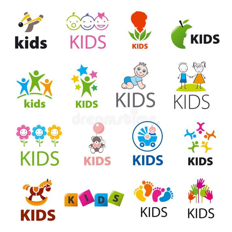 Συλλογή των διανυσματικών παιδιών λογότυπων