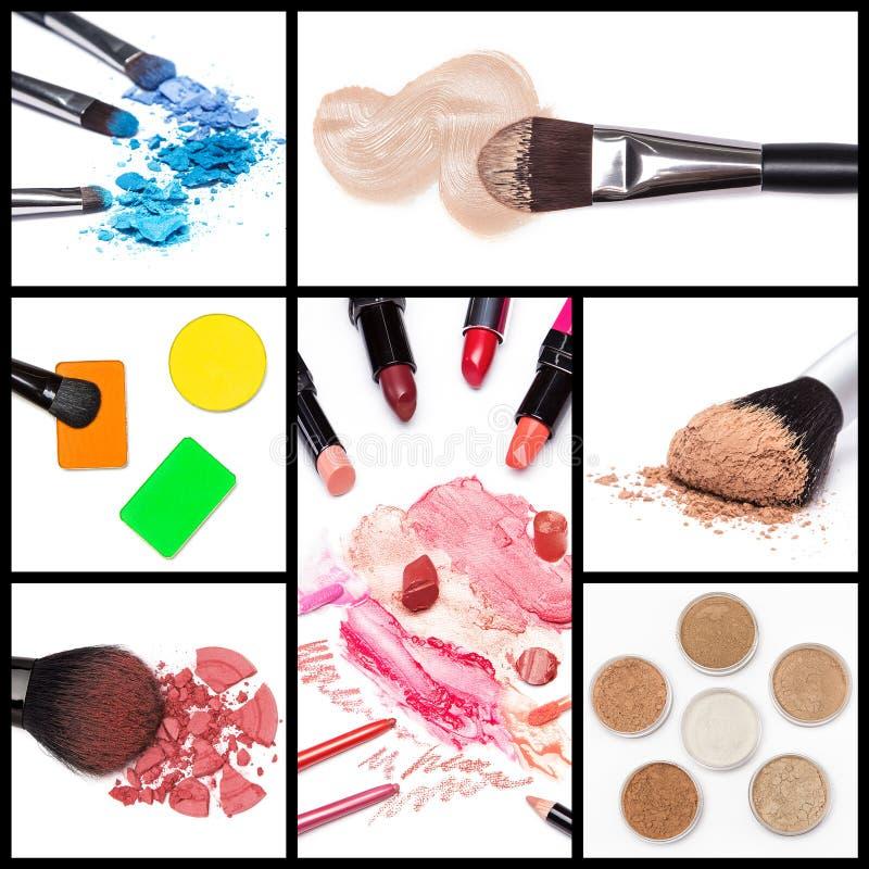 Συλλογή των καλλυντικών makeup στοκ φωτογραφία