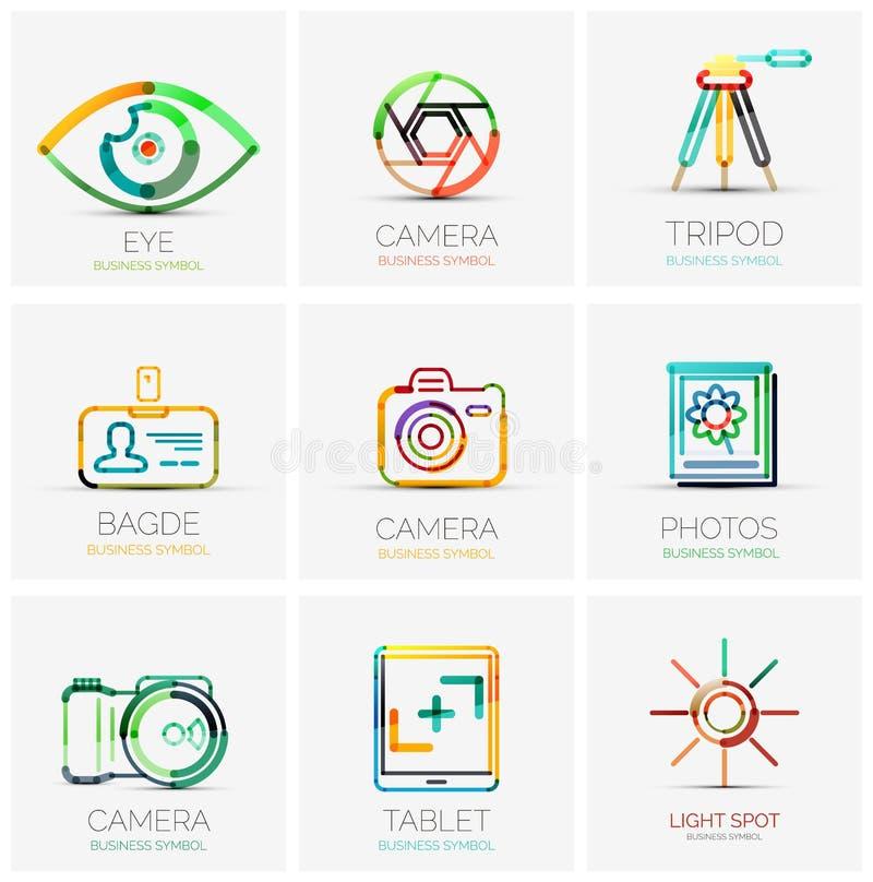 Συλλογή των λογότυπων επιχείρησης, επιχειρησιακές έννοιες ελεύθερη απεικόνιση δικαιώματος