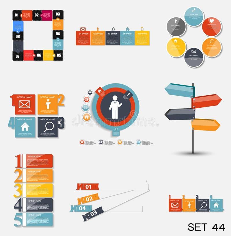 Συλλογή των προτύπων Infographic για την επιχείρηση διανυσματικό Illustra ελεύθερη απεικόνιση δικαιώματος