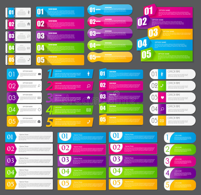 Συλλογή των προτύπων Infographic για την επιχείρηση διανυσματική απεικόνιση