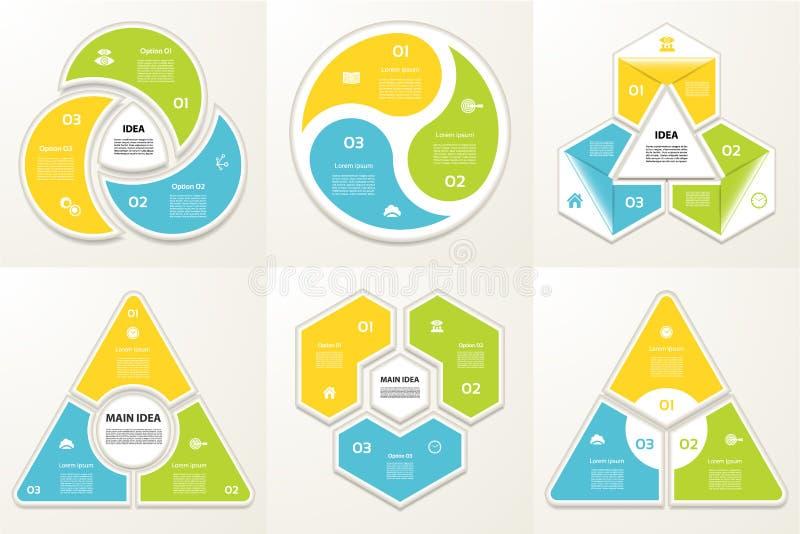 Συλλογή των προτύπων Infographic για την επιχείρηση ελεύθερη απεικόνιση δικαιώματος