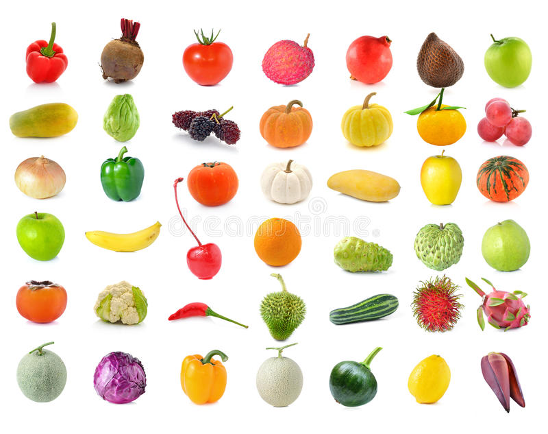 Συλλογή των φρούτων και λαχανικών στοκ φωτογραφίες