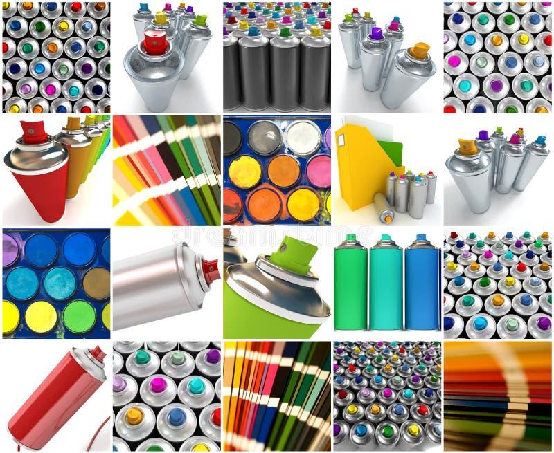 Συλλογή χρωμάτων διανυσματική απεικόνιση