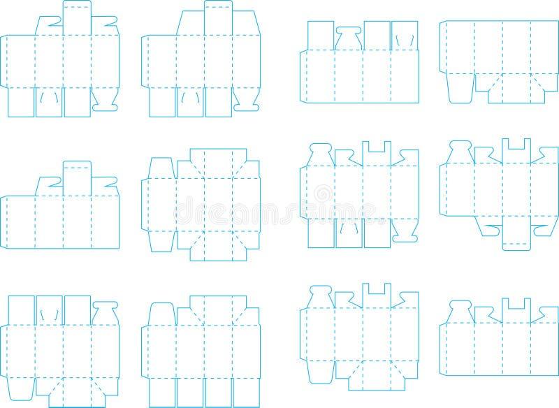 Συλλογή 03 eps προτύπων κιβωτίων διανυσματική απεικόνιση