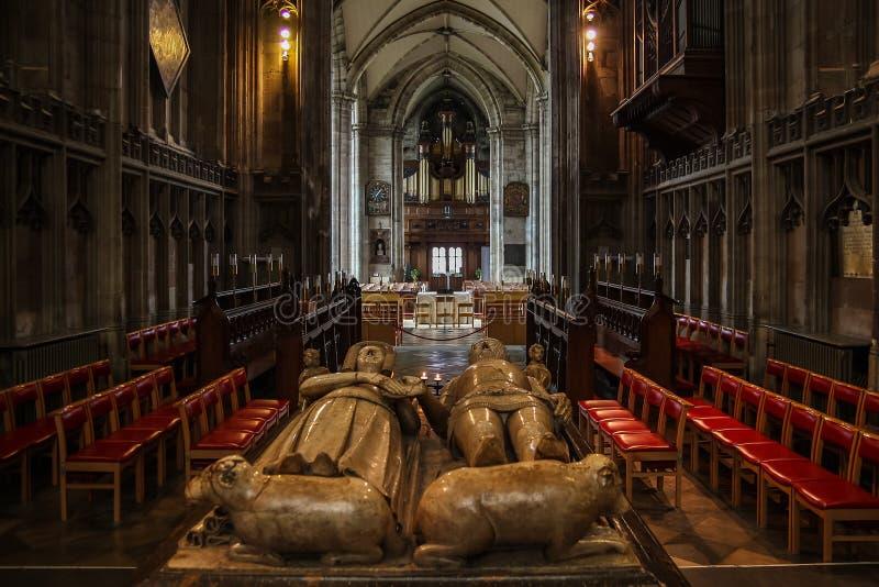 Συλλογική εκκλησία του ST Mary, Warwick στοκ φωτογραφίες