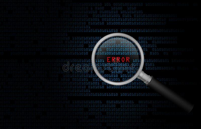 Σφάλμα υπολογιστών απεικόνιση αποθεμάτων