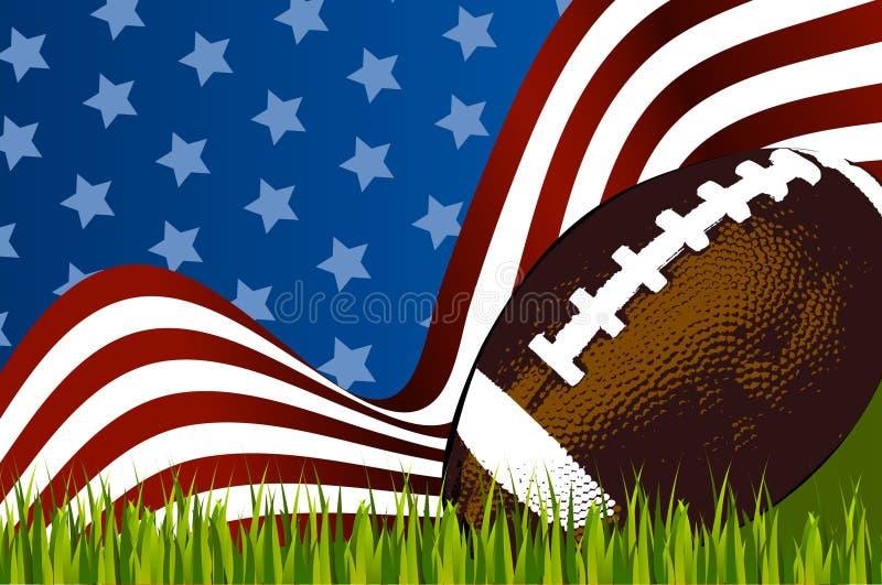 Σφαίρα αμερικανικού ποδοσφαίρου διανυσματική απεικόνιση