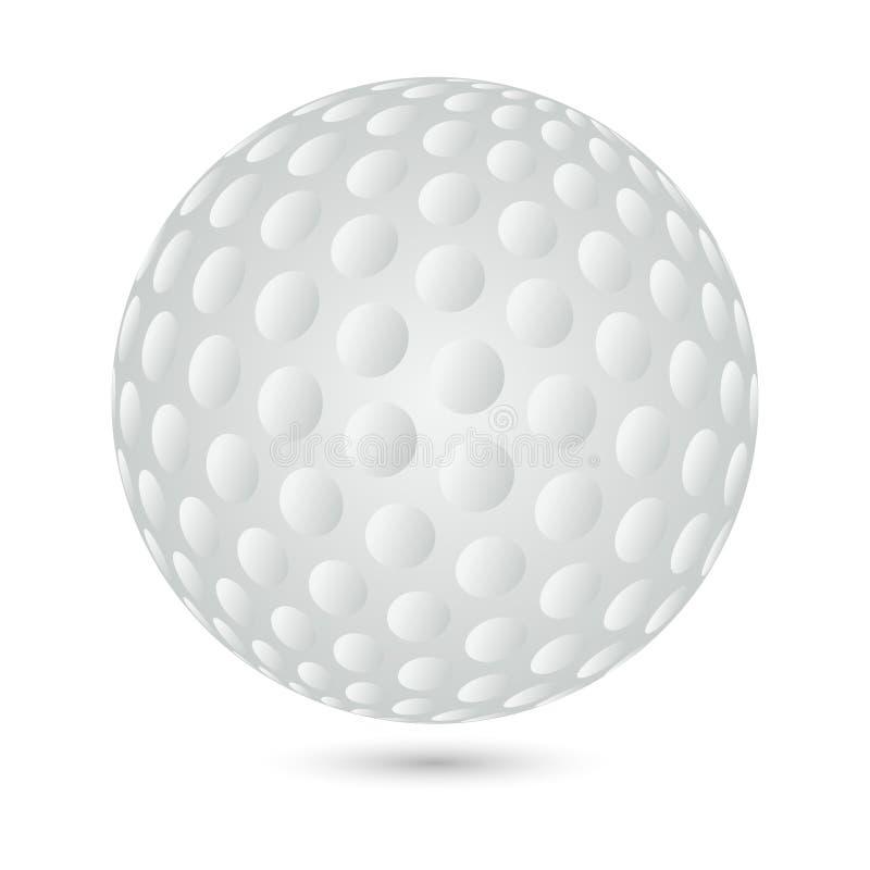 Σφαίρα γκολφ, λογότυπο σφαιρών γκολφ, λογότυπο εικονιδίων σφαιρών γκολφ, γκολφ και σφαιρών γκολφ διανυσματική απεικόνιση