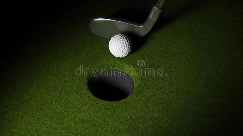 Σφαίρα γκολφ διανυσματική απεικόνιση