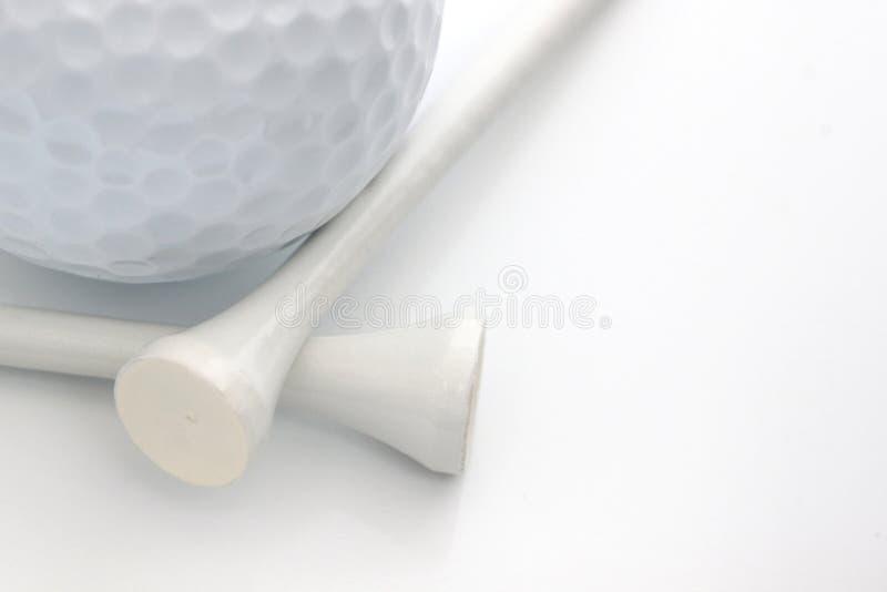 Σφαίρα & γράμματα Τ γκολφ στοκ φωτογραφίες με δικαίωμα ελεύθερης χρήσης