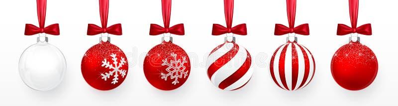 Σφαίρα γυαλιού Χριστουγέννων στο άσπρο υπόβαθρο Διακόσμηση διακοπών διανυσματική απεικόνιση