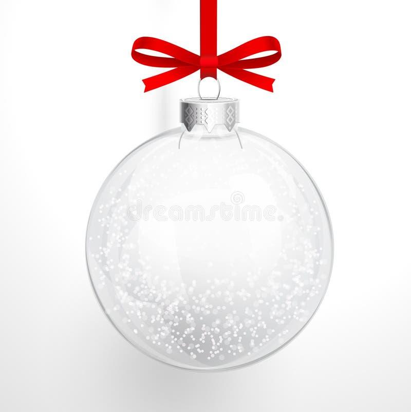 Σφαίρα γυαλιού Χριστουγέννων διανυσματική απεικόνιση
