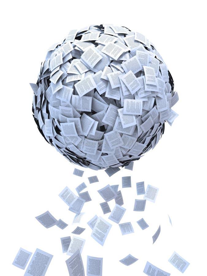 σφαίρα εγγράφων διανυσματική απεικόνιση