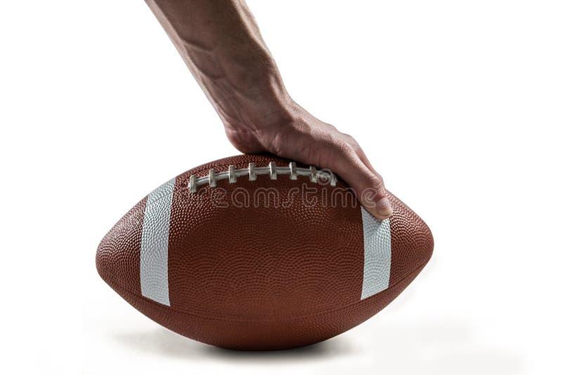 Σφαίρα εκμετάλλευσης φορέων αμερικανικού ποδοσφαίρου στοκ εικόνα με δικαίωμα ελεύθερης χρήσης