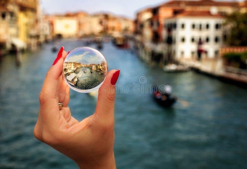 Σφαίρα κρυστάλλου στη Βενετία στοκ φωτογραφίες
