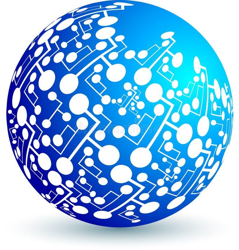 σφαίρα κυκλωμάτων διανυσματική απεικόνιση