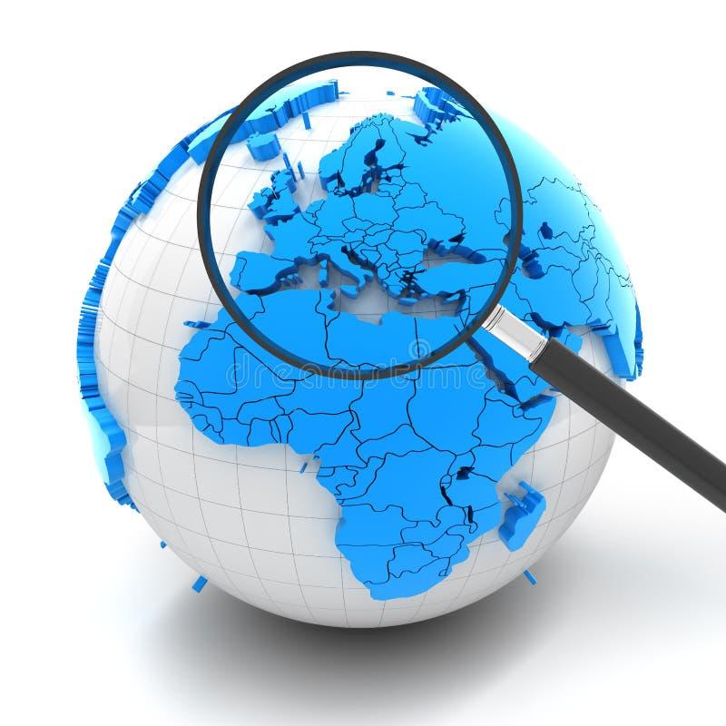 Σφαίρα με την ενίσχυση - γυαλί πέρα από την Ευρώπη ελεύθερη απεικόνιση δικαιώματος