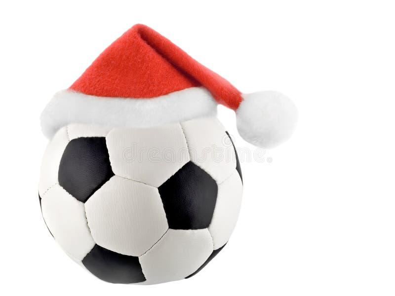 Σφαίρα ποδοσφαίρου Άγιου Βασίλη στοκ εικόνες