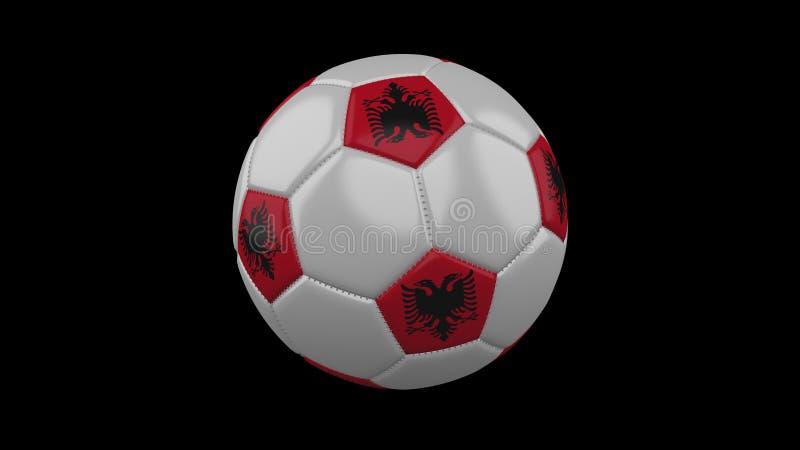Σφαίρα ποδοσφαίρου με τη σημαία Αλβανία, τρισδιάστατη απόδοση στοκ εικόνες με δικαίωμα ελεύθερης χρήσης