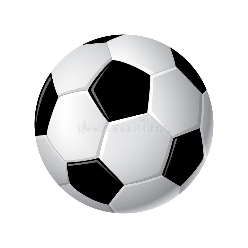 Σφαίρα ποδοσφαίρου - μοντέρνα διανυσματική ρεαλιστική απομονωμένη τέχνη συνδετήρων διανυσματική απεικόνιση