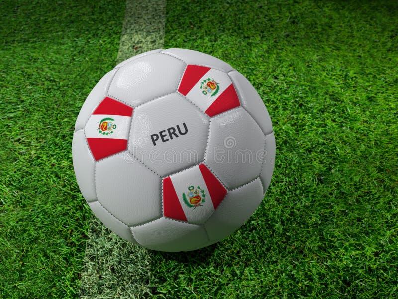 Σφαίρα ποδοσφαίρου του Περού απεικόνιση αποθεμάτων
