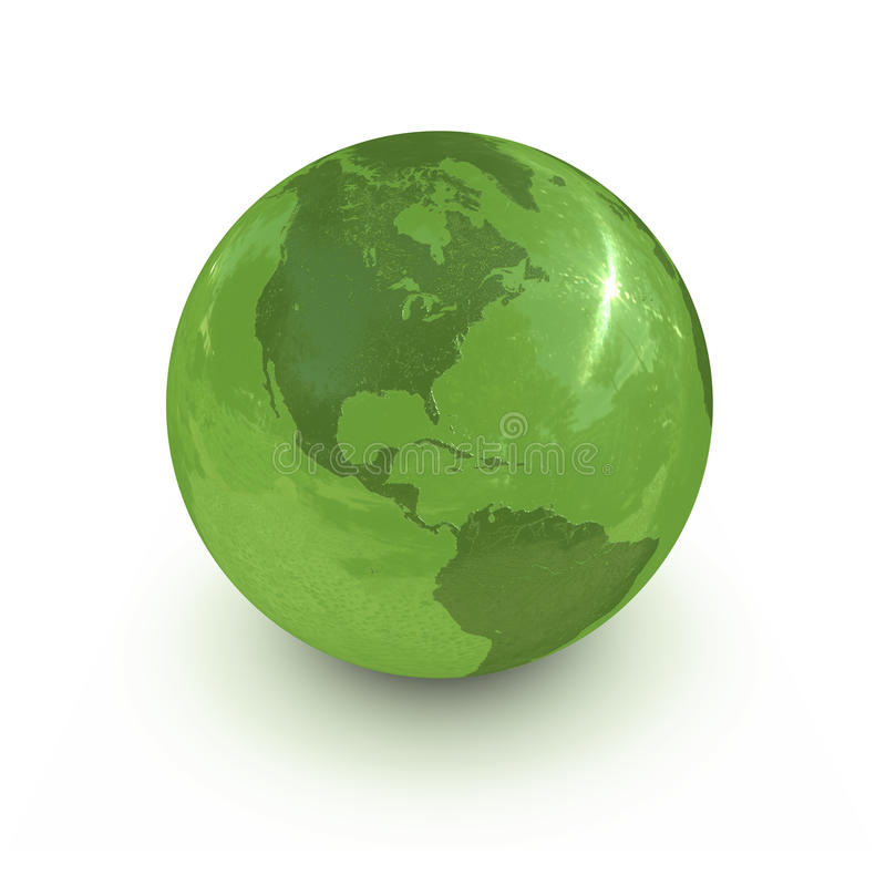 σφαίρα πράσινη απεικόνιση αποθεμάτων