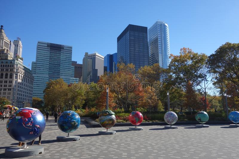 Σφαίρα πόλεων της Νέας Υόρκης ΗΠΑ harlem bronx στοκ φωτογραφία