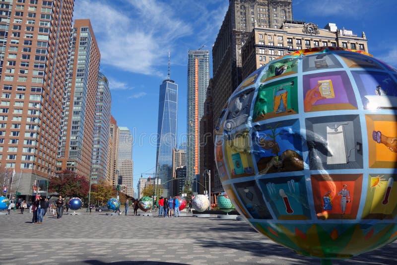 Σφαίρα πόλεων της Νέας Υόρκης ΗΠΑ harlem bronx στοκ φωτογραφίες με δικαίωμα ελεύθερης χρήσης