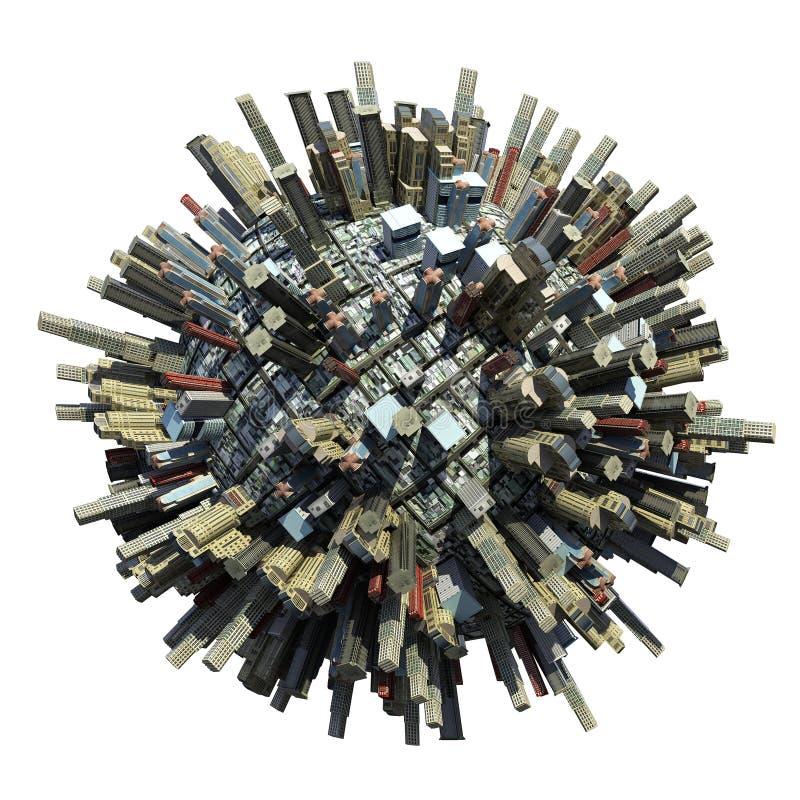 σφαίρα πόλεων διανυσματική απεικόνιση