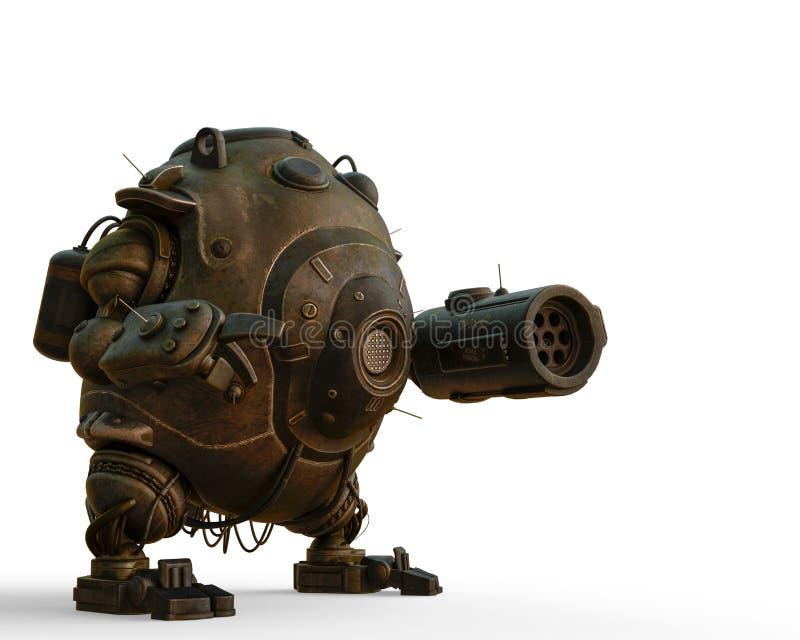 Σφαίρα ρομπότ σε ένα άσπρο υπόβαθρο ελεύθερη απεικόνιση δικαιώματος