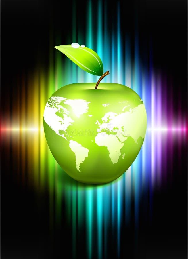 Σφαίρα της Apple στο αφηρημένο υπόβαθρο φάσματος απεικόνιση αποθεμάτων