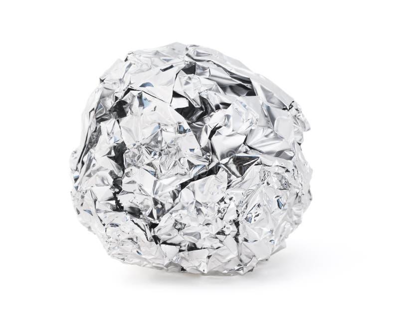 Σφαίρα φύλλων αλουμινίου στοκ εικόνες