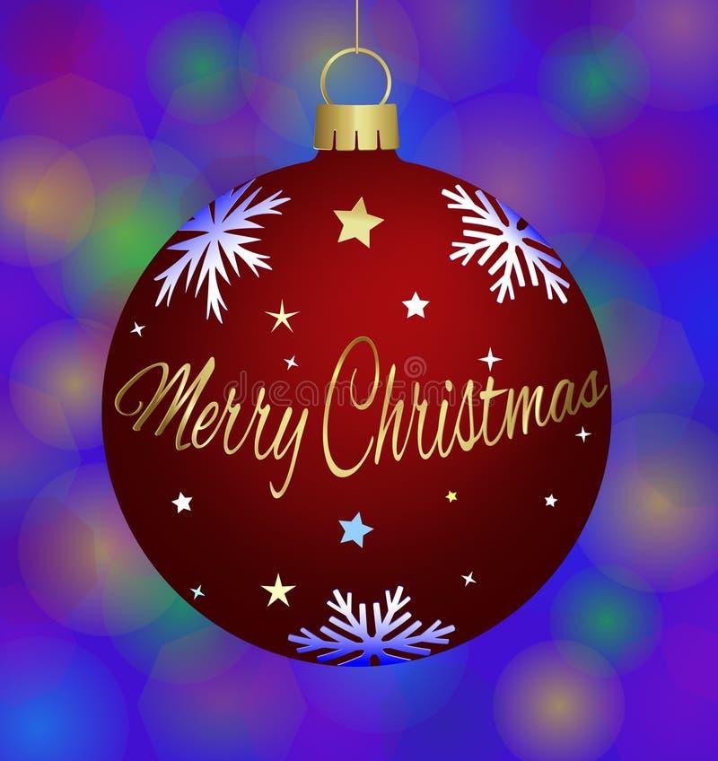 Σφαίρα Χριστουγέννων διανυσματική απεικόνιση