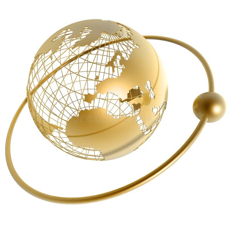 σφαίρα χρυσή διανυσματική απεικόνιση