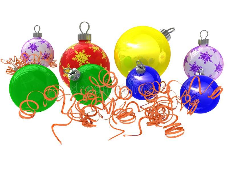 σφαίρα χρωματισμένο το Χριστούγεννα s διανυσματική απεικόνιση