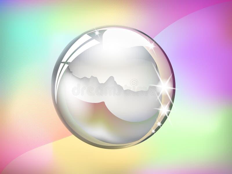 σφαίρα cystal απεικόνιση αποθεμάτων