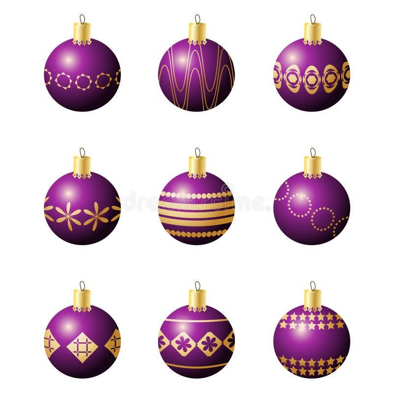 Σφαίρες διακοσμήσεων Χριστουγέννων στοκ φωτογραφίες με δικαίωμα ελεύθερης χρήσης