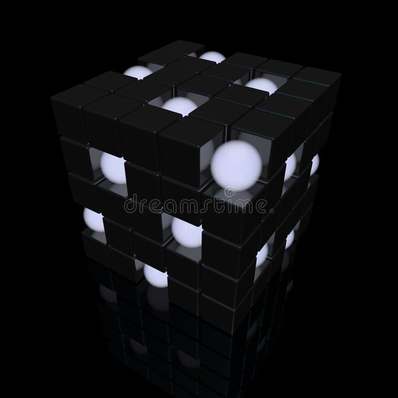 σφαίρες κύβων διανυσματική απεικόνιση
